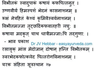Bibhitaki - Terminalia beliirica uses