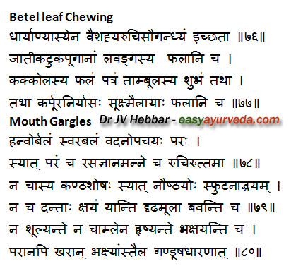 betel leaf chewing