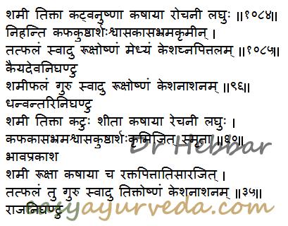 Shami tree medicinal uses