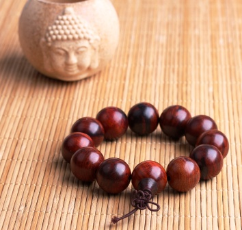 Raktachandan Lobular red sandalwood prayer beads bracelets
