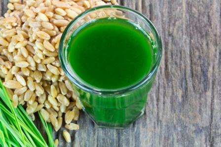 Wheat grass juice with seed