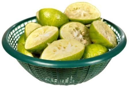 squeezed lemon