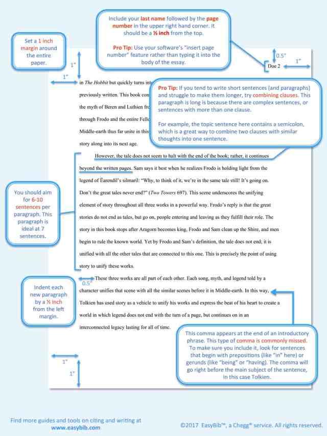 MLA Sample Paper  EasyBib
