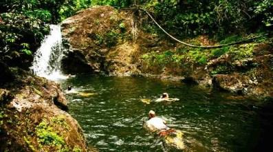 waterfall baracoa cuba. cascada a baracoa. cascata a baracoa