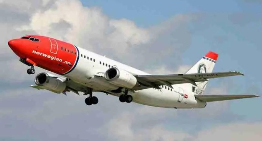 air norwegian air line. vuelos norwegian