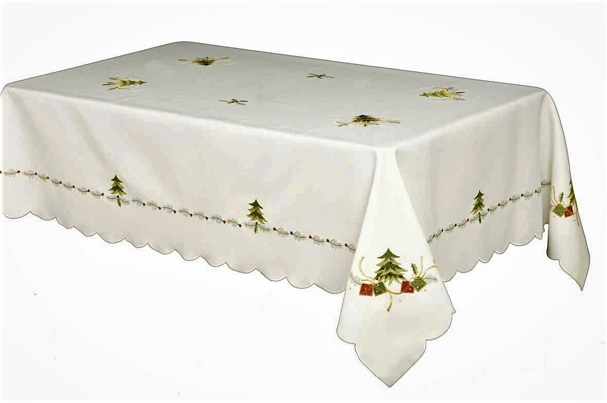 gold polyester chair covers hammock swing chairs spruce embroidered tree & gifts christmas tablecloth ivory 180x270cm (70x108