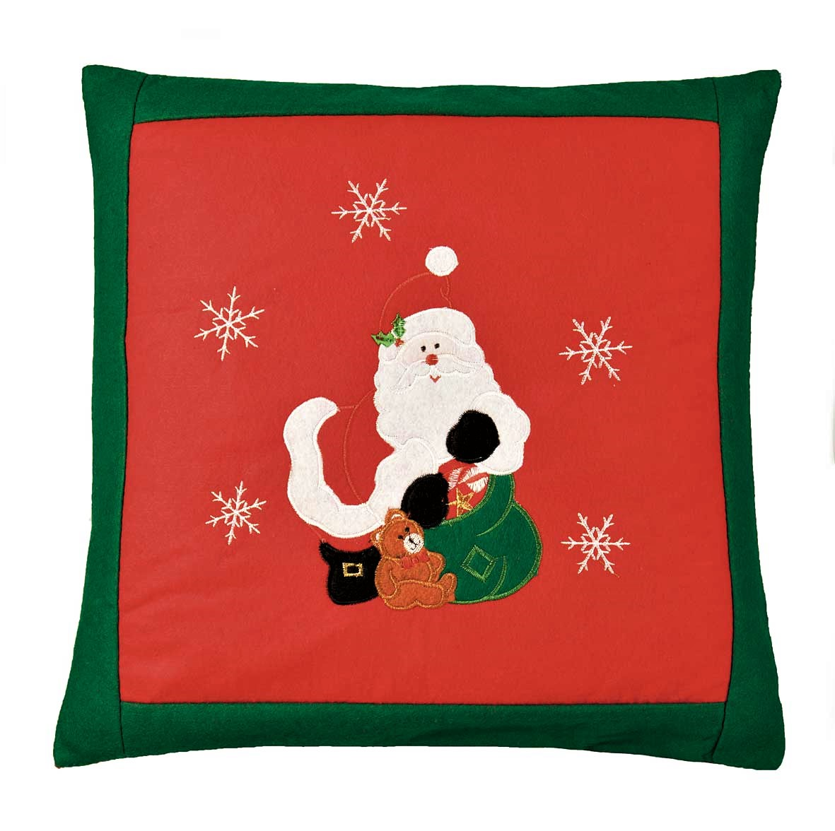christmas chair back covers uk wedding wirral santa embroidered cushion cover red 42x42cm