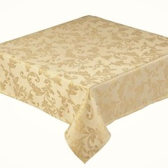 Christmas Chair Covers The Range Countertop Tables And Chairs Jacobean Jacquard Gold Tablecloth 178x305cms 70x120
