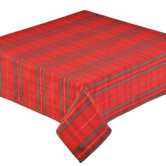 Christmas Chair Covers The Range Z Tartan Check Woven Tablecloth Red 173cm 68 Quot Round