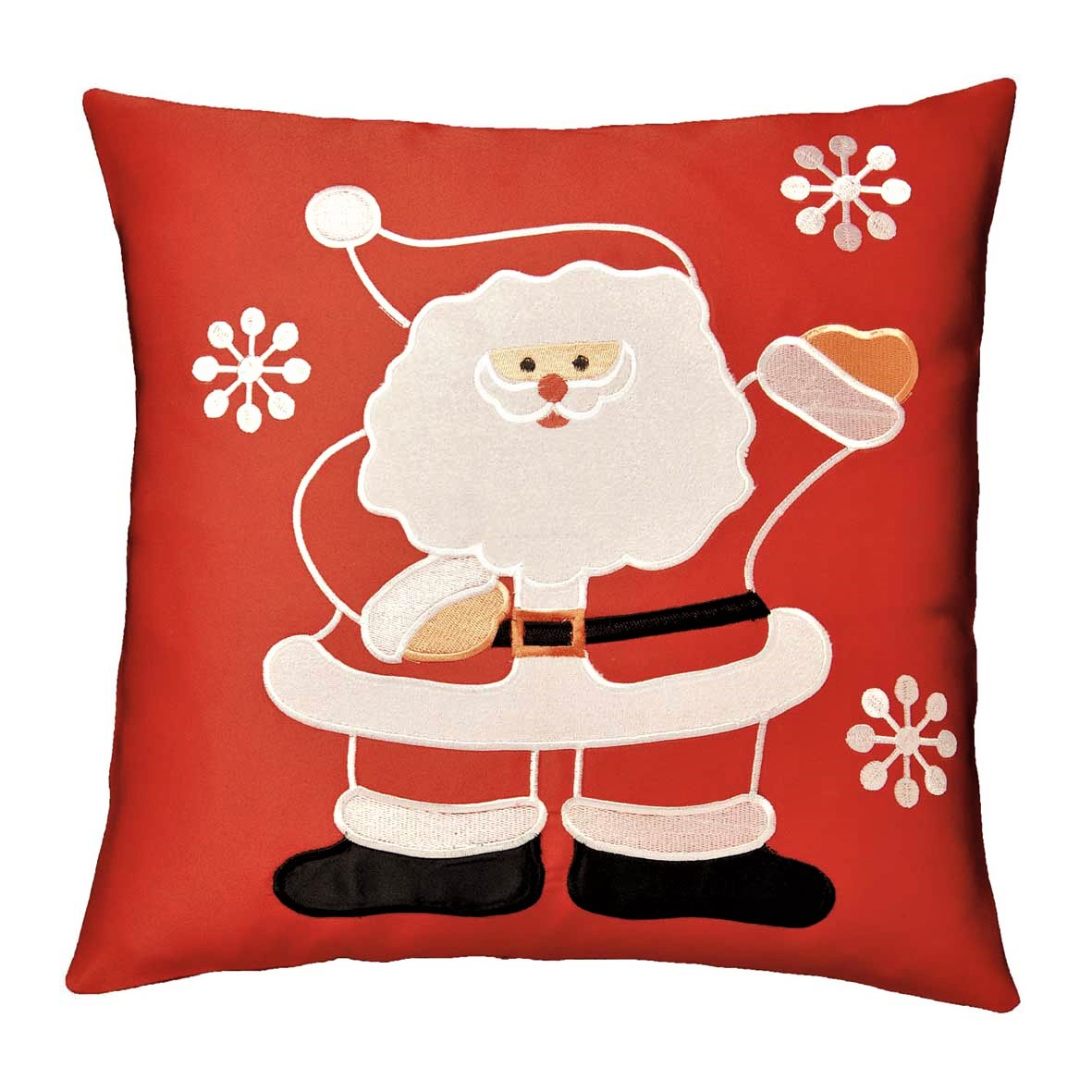 christmas chair back covers uk baker tufted dining chairs santa applique cushion cover red 42x42cm 16x16