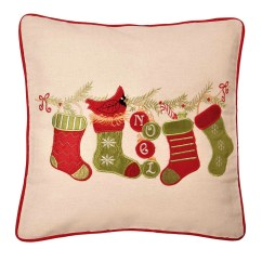 Christmas Chair Covers The Range Modern Nursery Stockings On Garland Applique Cushion Cover 43x43cm 16x16