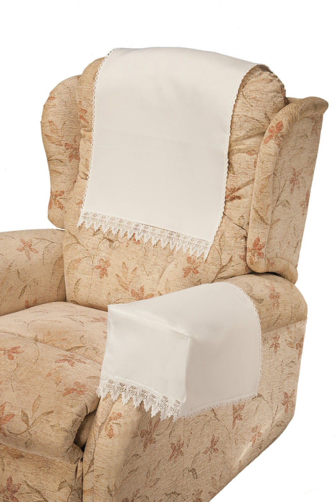 leather sofa arm caps uk ergonomic comet white chair covers by easycare tablecloths