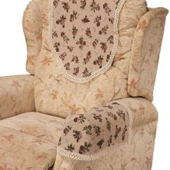 Seat Covers For Chairs With Arms Accent At Target Arm And Chair Backs Easycare Tablecloths Rosie Tapestry 6 5 Lace Trim