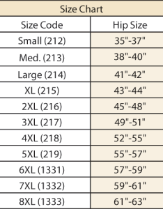 Size chart also incontinence panties for women easy comforts rh easycomforts