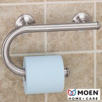 Grab Bar with Toilet Paper Holder - Bathroom Safety - Shop ...
