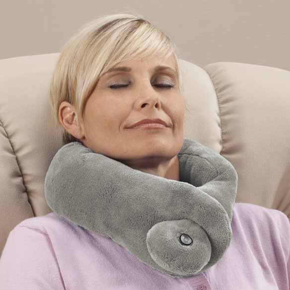 massage chair with heat marcy inversion table massaging neck wrap - vibrating pillow easy comforts