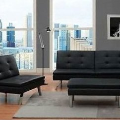Futon And Chair Set High Back Patio Cushions Uk Modern Black Faux Leather Gone Wild Under 500