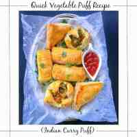 Quick Vegetable Puff Recipe (Indian Curry Puff)