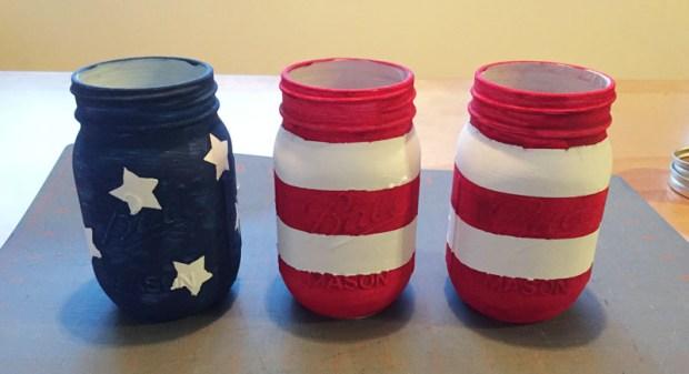 mason jars patriotic