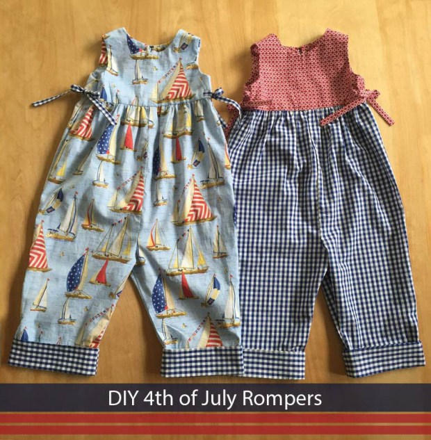 4th of july rompers
