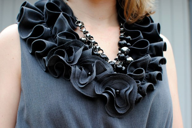 mixed wool dress