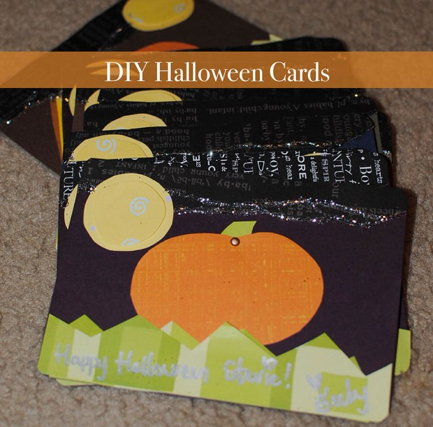 floral halloween cards