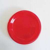 "10"" Red Plastic Plates   EasyDabba.com"