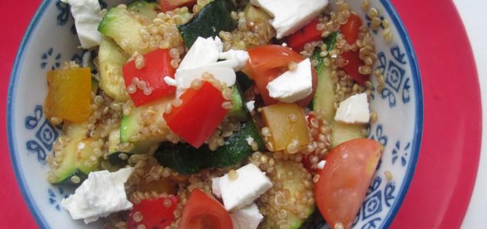 quinoa met gegrilde groente