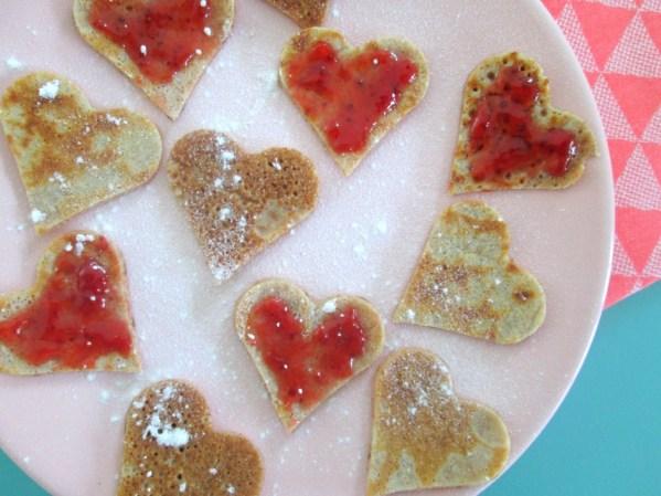 valentijnsdag pannenkoekjes
