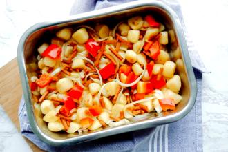 aardappelschotel met spekjes