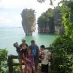 James Bond Island - Customers on a Private Phang Nga Bay Sightseeing Tour