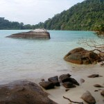 Toller Nationalpark bewohnt von den Mokken, die Seezigeuner von Surin Island.