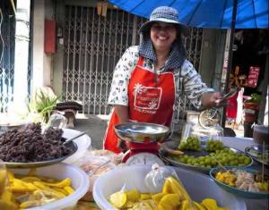 Market Vendor at Takuapa Old Town, Phang Nga Province - Thailand (Image Credit to Jamie @ Jamies Phuket)