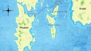 Koh Yao Noi Tours - Itinerary Map