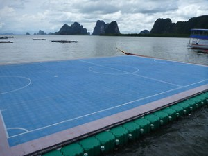 Floating Football Pitch