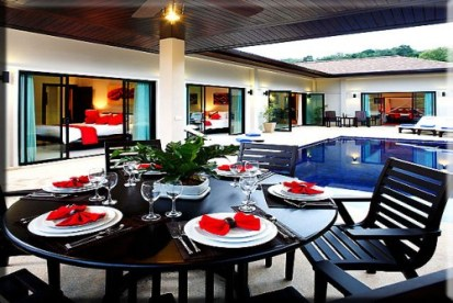 Outside Dining Area at the Villas Phuket