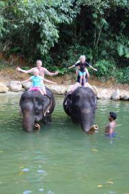 Elephant Bathing in Kapong