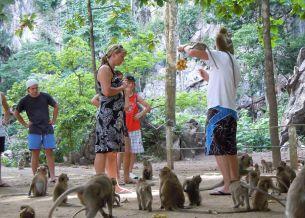 Monkey Temple at Suwan Kuha Temple, Phang Nga