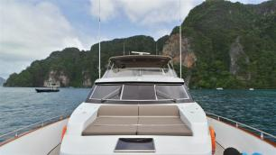 MY Victory Sun Deck Front - Luxury Yacht Charter Phuket