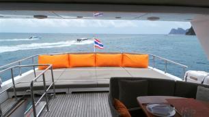 MY Victory Sun Deck - Luxury Yacht Charter Phuket
