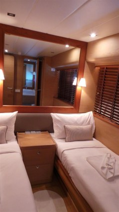 MY Victory Twin bed cabin - Luxury Yacht Charter Phuket