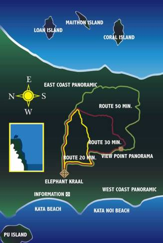 Elephant Trekking Phuket - Route Map