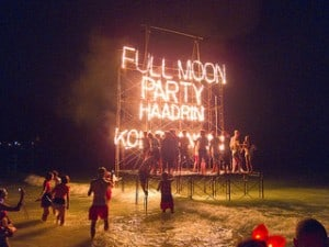 Full Moon Party at Haad Rin, Koh Phangan