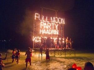 Full Moon Party at Haad Rin, Koh Phangan