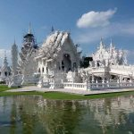 Wat Rong Khun (White Temple) in Chiang Rai Province, Thailand.