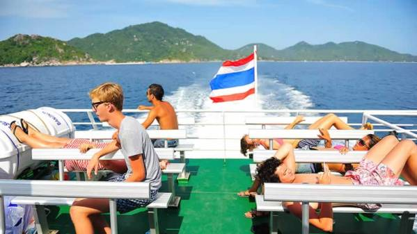 Phuket to Koh Samui Transfers - Ferry Sundeck