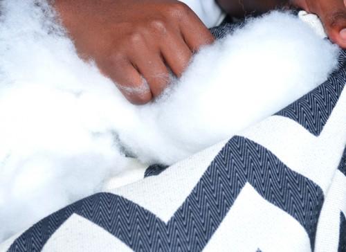 DIY Chevron Pouf cum Dog Bed