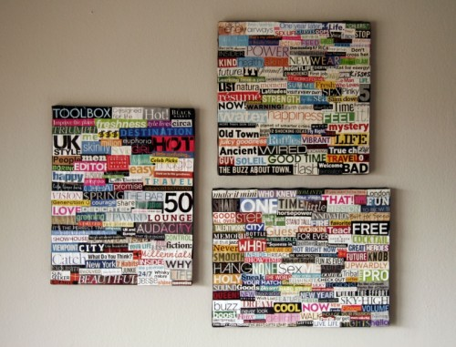 Easy Wall Art Collage for decoration