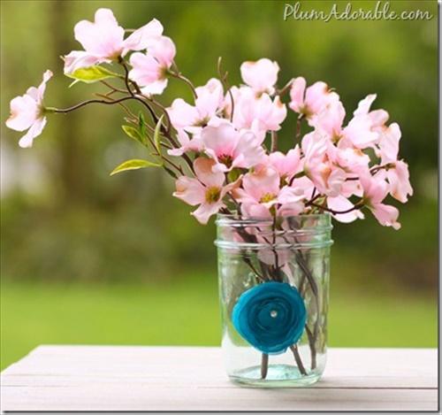 DIY fabric flower Makeover