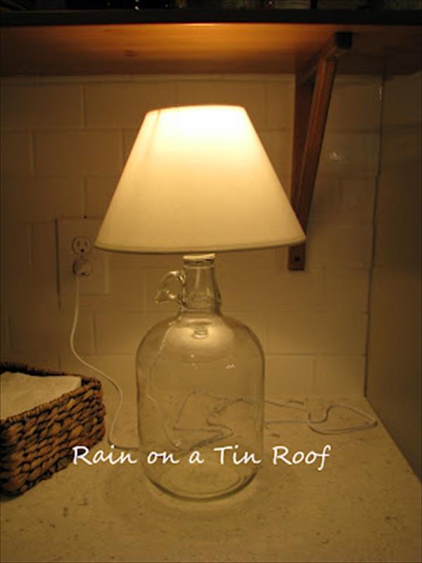 Nice DIY table lamp idea